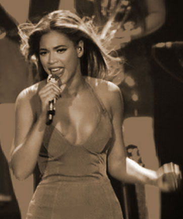 Beyoncé Knowles live on stage in Las Vegas, 2009