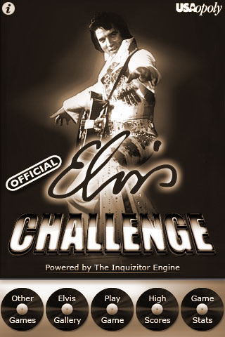 Official Elvis Challenge menu screen