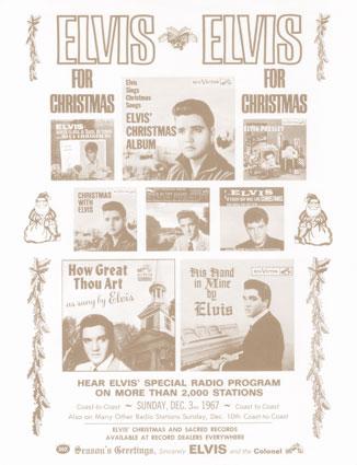 Season's Greetings From Elvis flyer (1967)