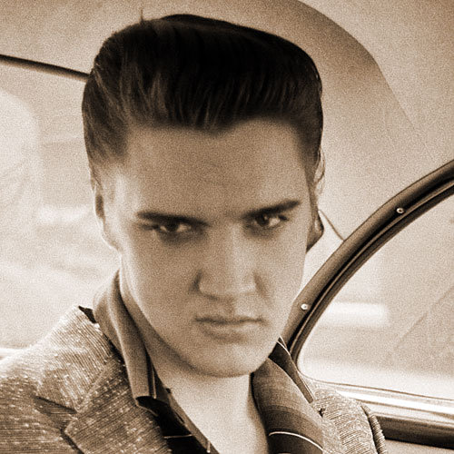 Elvis Inside Taxi (Detail)
