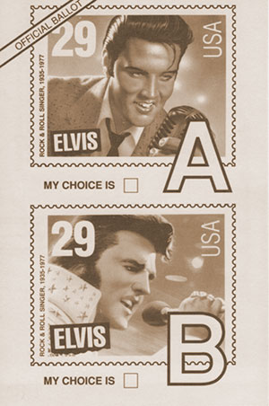 Elvis Stamp Official Ballot (1992)