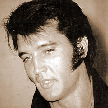 Elvis talks to the media, 1969