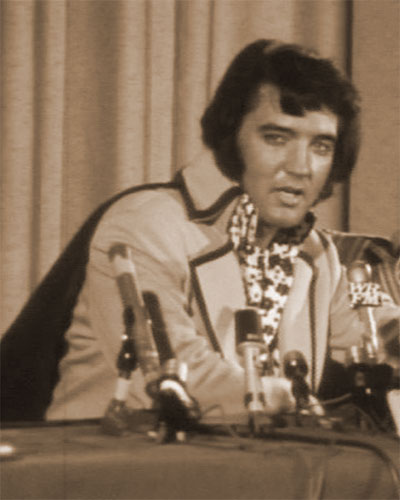 Elvis Presley's 1972 New York press conference