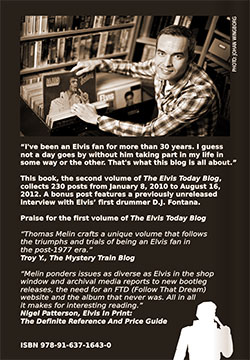 Back of The Elvis Today Blog, Volume 2