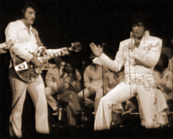 John Wilkinson and Elvis on stage, January 12, 1973