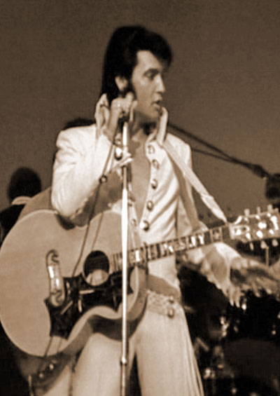 Elvis on stage in 1970