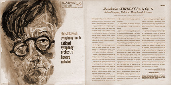 Front and back covers of Shostakovich Symphony No. 5