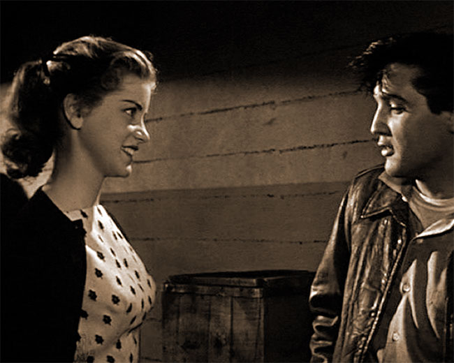 Dolores Hart and Elvis Presley in King Creole