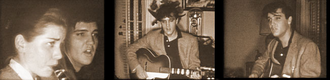 Elvis at a party in 1958