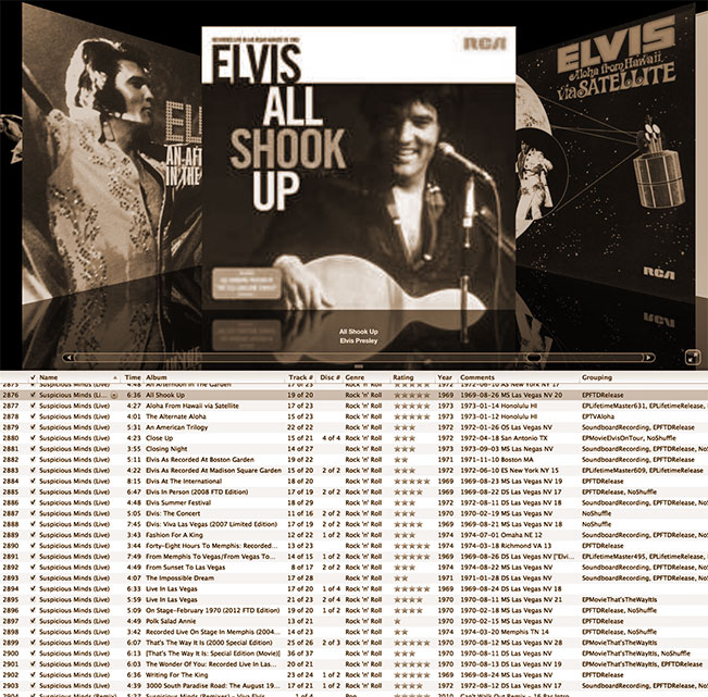Elvis in iTunes