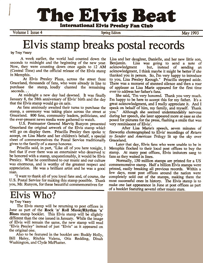 Cover of The Elvis Beat #4, May 1993
