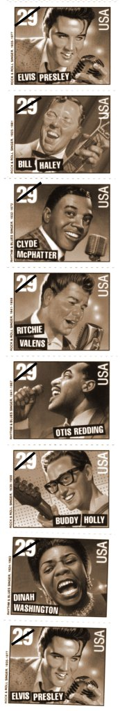 The Rock 'n' Roll Music/Rhythm 'n' Blues stamp series