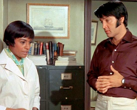 Barbara McNair and Elvis Presley in CHANGE OF HABIT (1969)