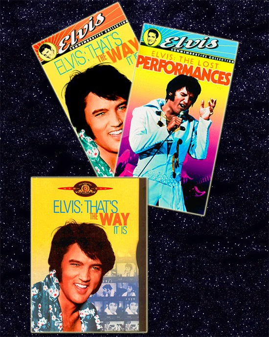 1997 VHS editions of THAT'S THE WAY IT IS and THE LOST PERFORMANCES; 1997 DVD edition of THAT'S THE WAY IT IS