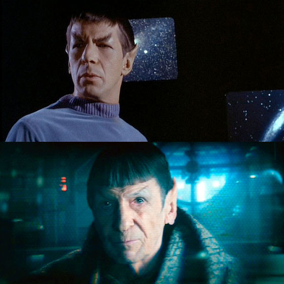 Leonard Nimoy's first and last appearances as Spock: 1964's THE CAGE and 2013's STAR TREK INTO DARKNESS