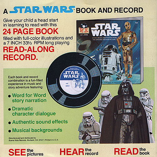 Return of the Jedi book and record set back cover
