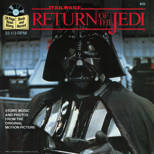 Return of the Jedi book and record cover