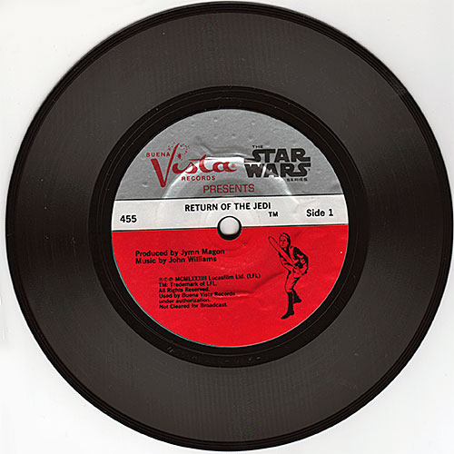 Return of the Jedi record, side 1