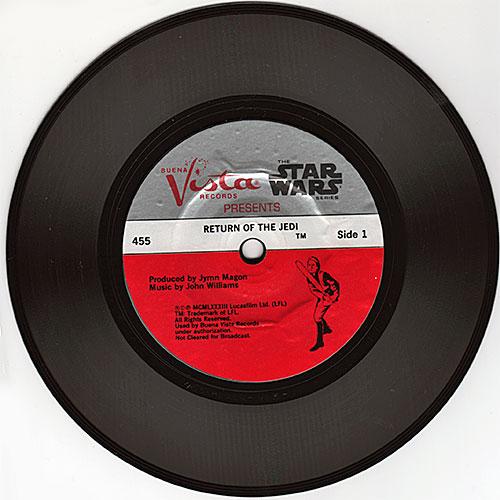 Return of the Jedi record, side 1