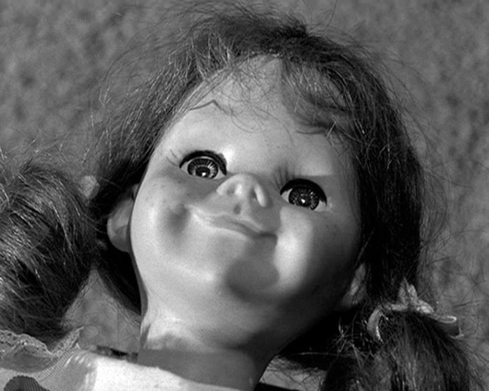 Anyone who thinks TWILIGHT ZONE is not scary has obviously yet to see Living Doll (1963).