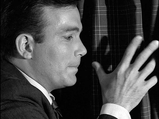 William Shatner about to pull back the curtain on terror in TWILIGHT ZONE: Nightmare At 20,000 Feet (1963)