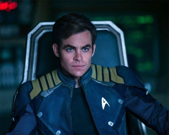 Chris Pine is Captain James T. Kirk in STAR TREK BEYOND (2016, Paramount)