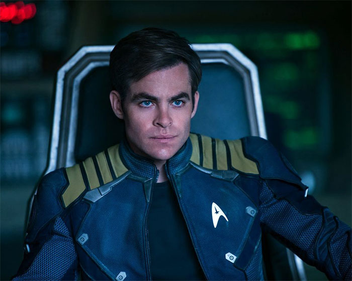 Chris Pine is Captain James T. Kirk in STAR TREK BEYOND (2016, Paramount)