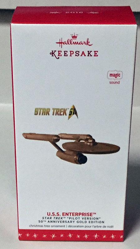 USS Enterprise - Hallmark ornament box (2016)