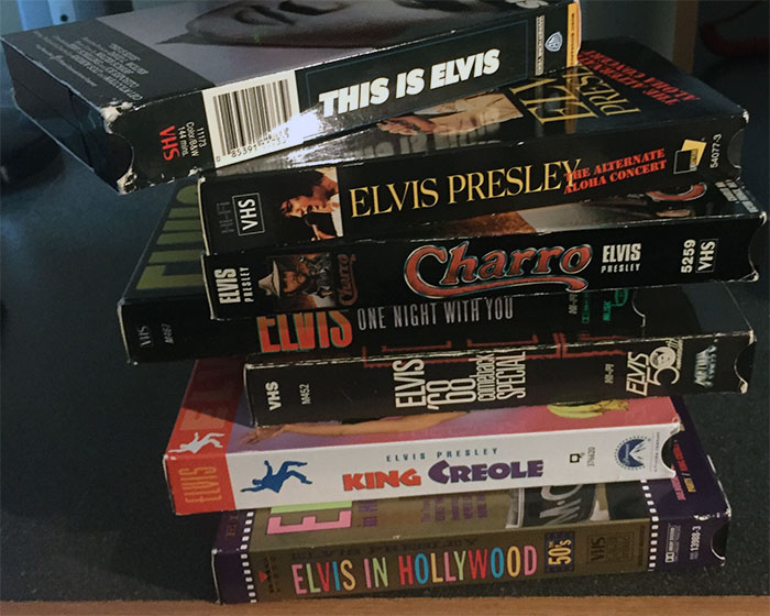 Elvis on VHS: ELVIS IN HOLLYWOOD, KING CREOLE, ELVIS, ONE NIGHT WITH YOU, CHARRO, THE ALTERNATE ALOHA CONCERT, and THIS IS ELVIS