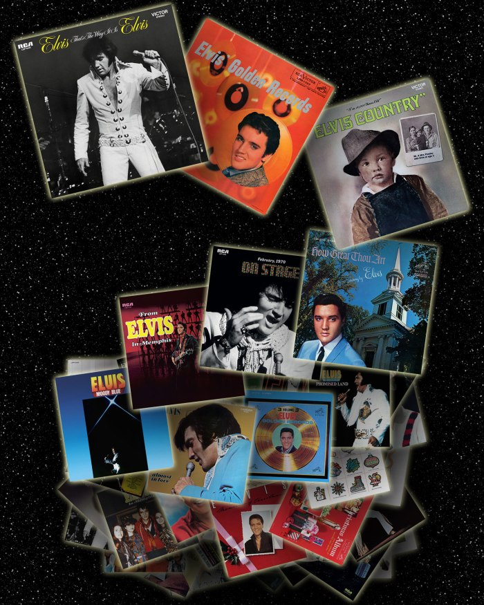 The 50 Greatest Elvis Presley Albums of All Time (click for larger version)