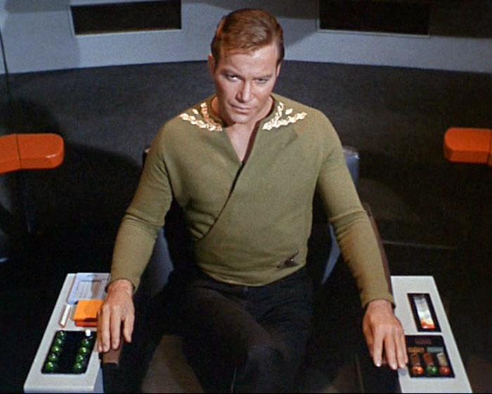 "William Shatner is Captain James T. Kirk in STAR TREK: ""The Enemy Within"" (1966, Desilu)"