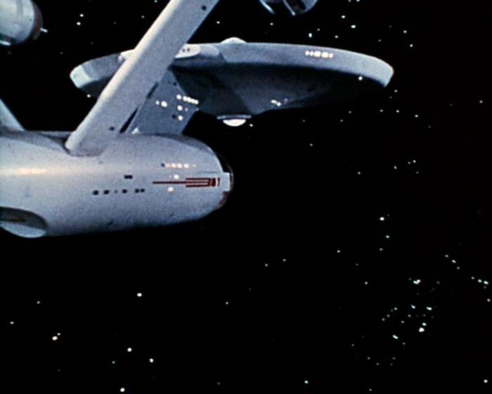 "The USS ""Enterprise"" voyages to the next STAR TREK adventure."