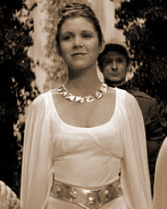 Carrie Fisher as she appeared in STAR WARS (1977)