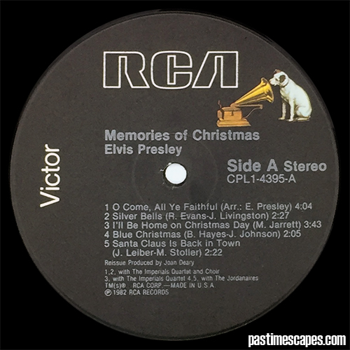 Side A of MEMORIES OF CHRISTMAS (RCA, 1982) [Photo by the author]
