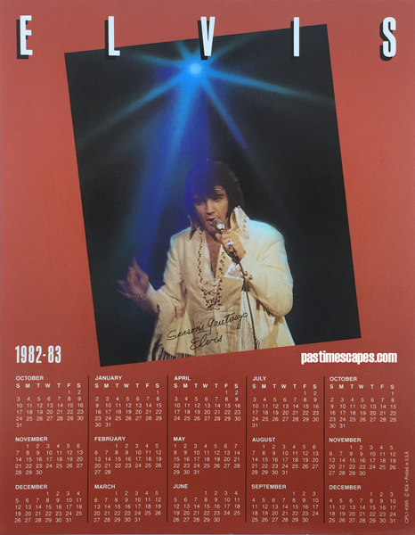 Calendar insert from MEMORIES OF CHRISTMAS (RCA, 1982) [Photo by the author]
