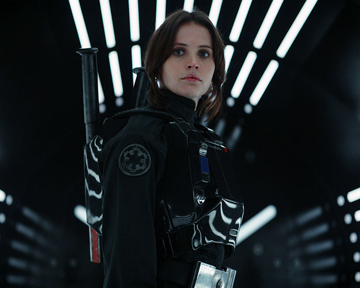 Felicity Jones is Jyn Erso in ROGUE ONE (2016, Walt Disney)