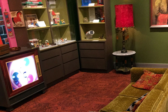 The TOYS exhibition at the Virginia Historical Society includes a 1970s living room