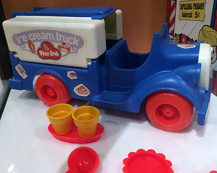 Kenner Play-Doh Ice Cream Truck (1975) as displayed at the TOYS exhibition