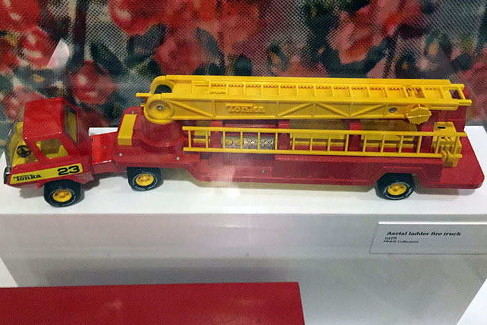 Tonka's Aerial Ladder Fire Truck (1978), as displayed at the TOYS exhibition