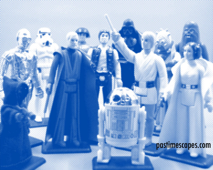 "The STAR WARS ""First 12"" action figures, Kenner 1977. (From the author's collection.)"