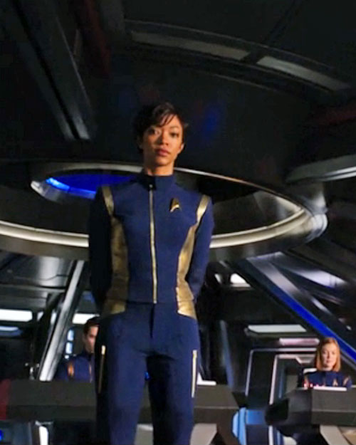 Sonequa Martin-Green is First Officer Michael Burnham in STAR TREK: DISCOVERY (2017, CBS)