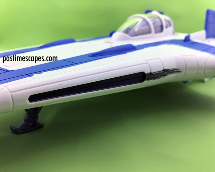 Hasbro's Star Wars Resistance A-Wing Fighter (2017), side detail view