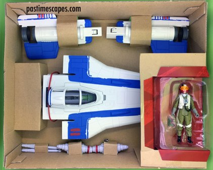 Hasbro's Star Wars Resistance Pilot Tallie and A-Wing Fighter (2017), unboxing