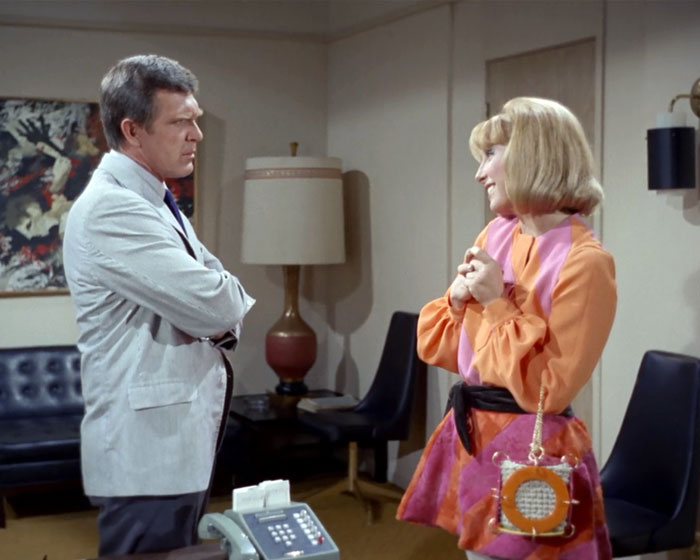 "Robert Lansing is Gary Seven and Teri Garr is Roberta Lincoln in STAR TREK: ""Assignment: Earth"" (1968, Paramount)."
